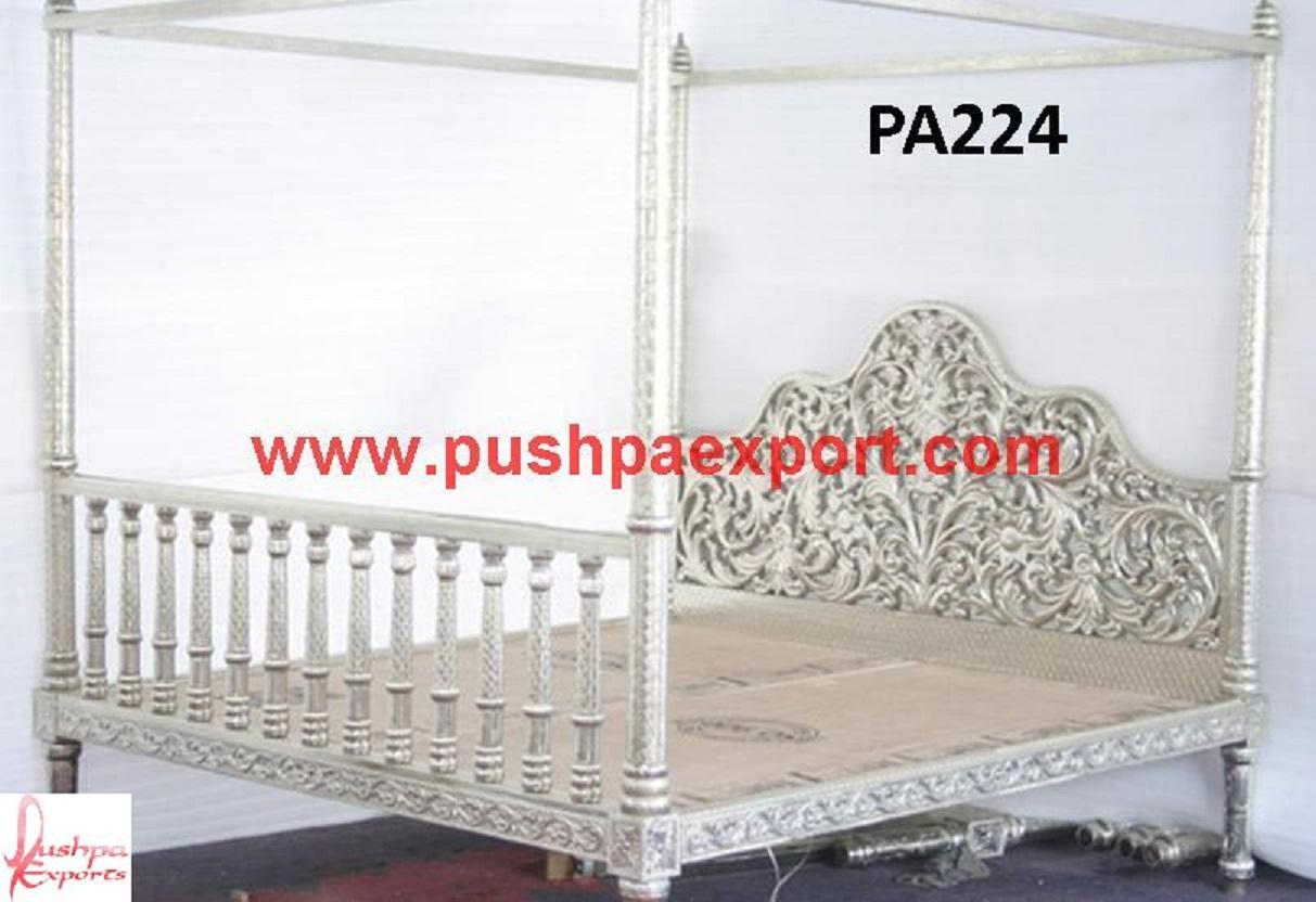 white metal furniture. See Through Carving Four Posted Bed White Metal Furniture T