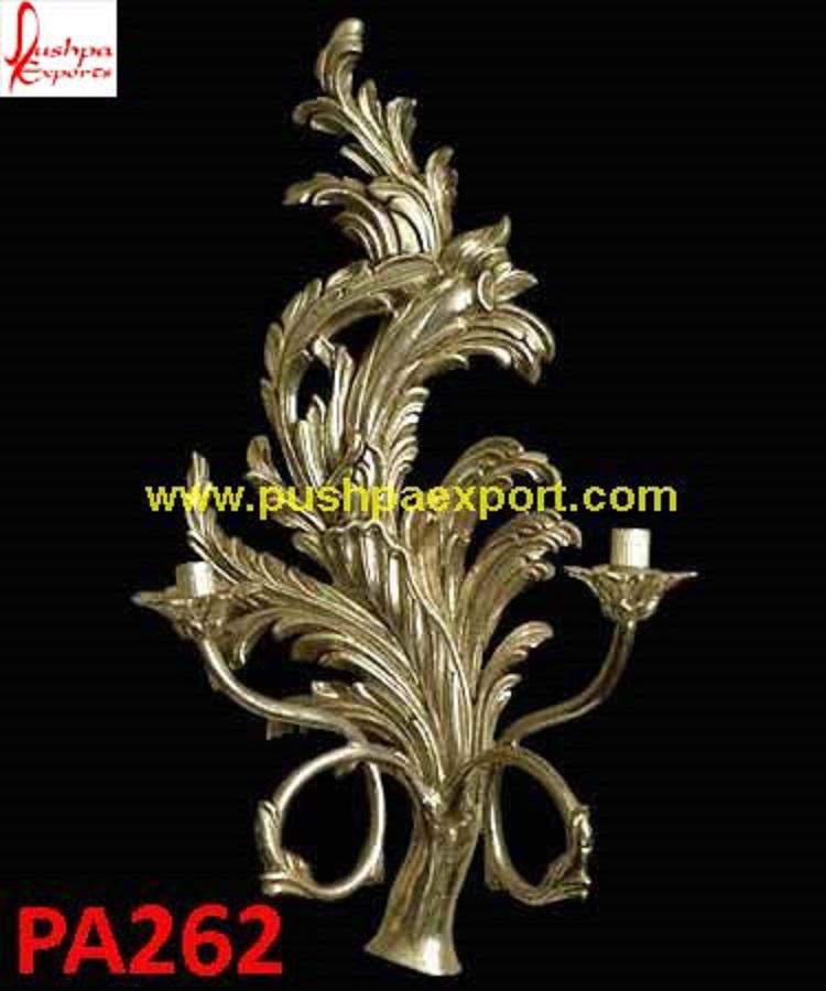 Silver Tree Leaves Design Wall Lamp Pushpa Arts Silver